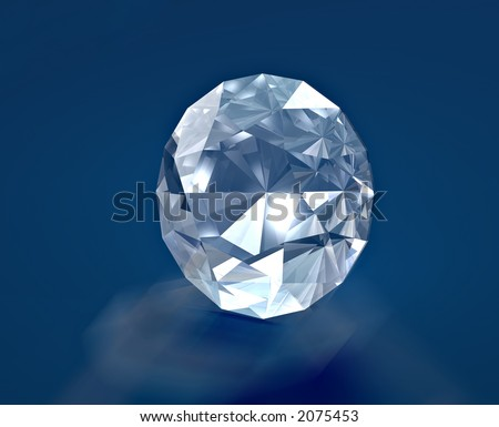 A brilliant diamond