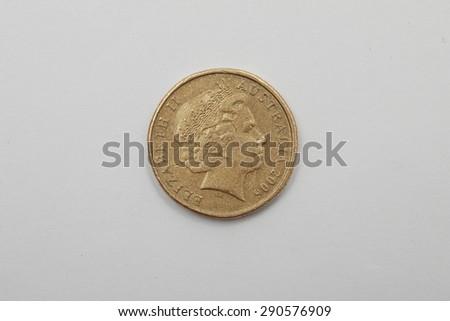 A bronze Australian 2006 Coin 1 Dollar - Heads Elizabeth II - stock photo