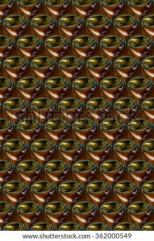 A brown and black glass abstract fractal. - stock photo