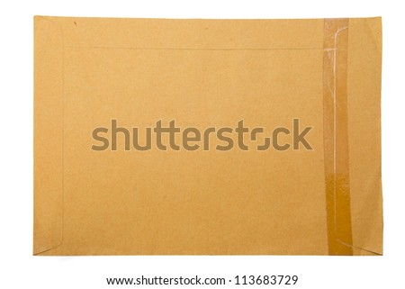 A brown paper folder on white background - stock photo