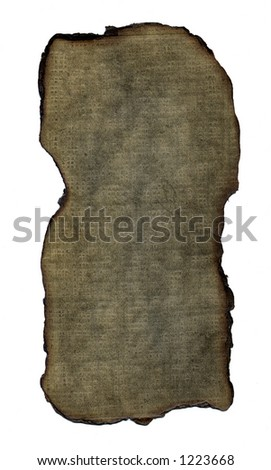 A brown textured background with wood pulp detail and a burned edge. - stock photo