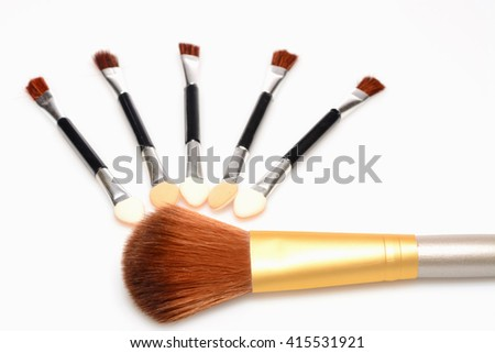 a brush for applying makeup