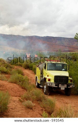A brushfire burns on public land in the high desert of Utah.