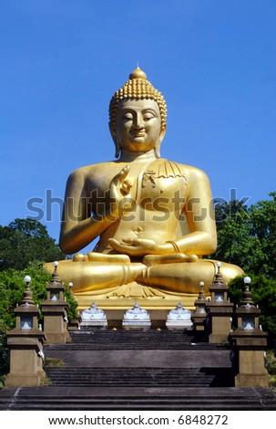 A Buddha statue in Thailand. - stock photo