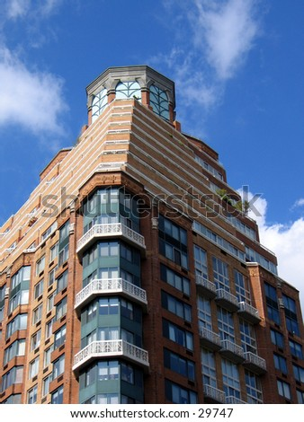 A building in Art Deco style in Tribeca, NYC - stock photo