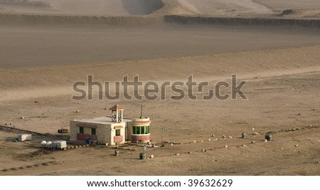 a building in the desert in Egypt