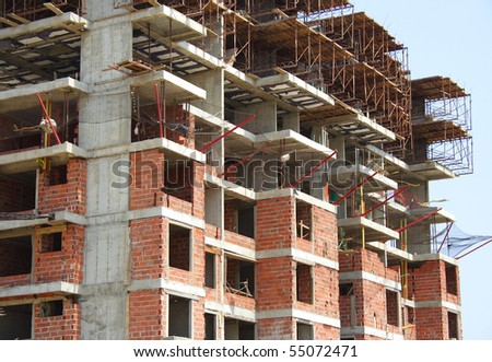 A building under construction - stock photo