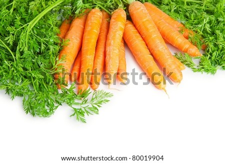 A bunch of carrots .