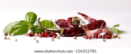 A bunch of fresh chives and vegetables  - stock photo