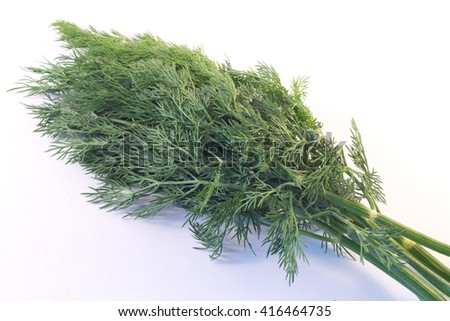 A bunch of fresh dill