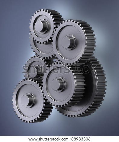 A bunch of gear wheels symbolizing accuracy - stock photo