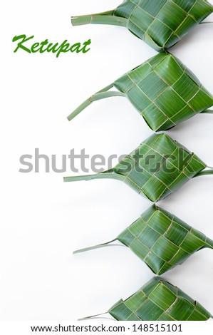 A Bunch of Green Ketupats - stock photo