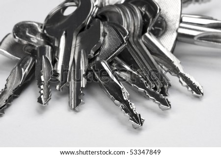 A bunch of keys - stock photo