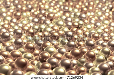A bunch of pearls - stock photo