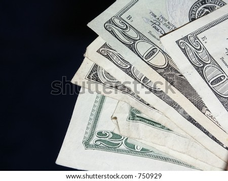A bunch of US $20 bills - stock photo