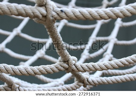 A bundle of plastic rope