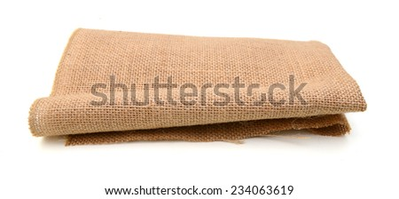 A burlap mat for kitchen