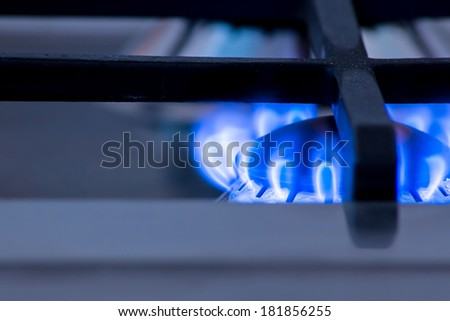 a burner ready to put a pot on it and start  cooking - stock photo