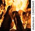 A burning Fireplace, Campfire. Size quadratic - stock photo