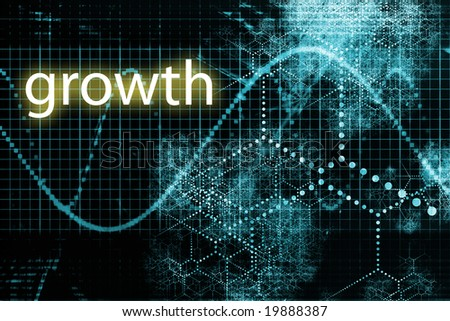 A Business Growth Abstract Futuristic Tech Background