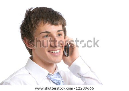A business man on a modern cell phone