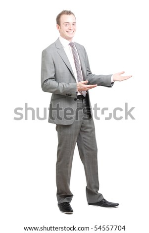 A business man presenting - stock photo