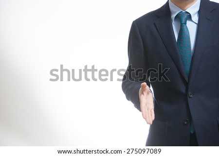 A business man shaking hands