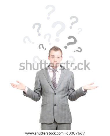 A business man shrugging - stock photo