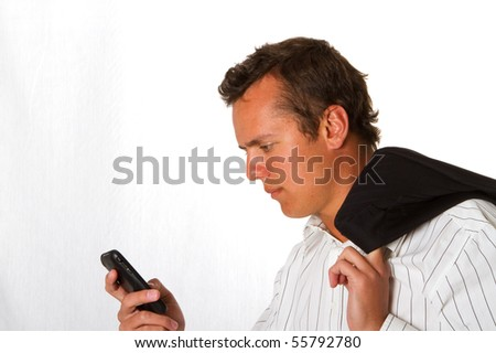A business man with a mobile phone