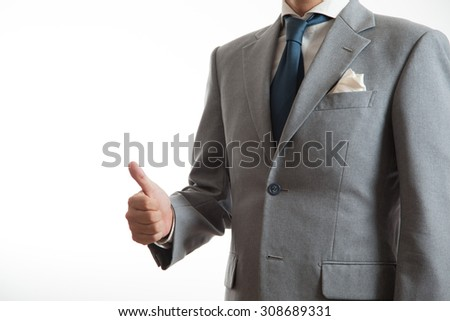 A business man with gesture - stock photo