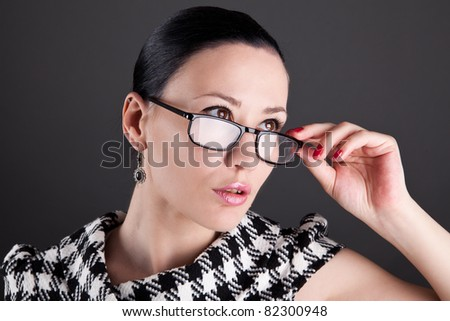 A business woman - stock photo