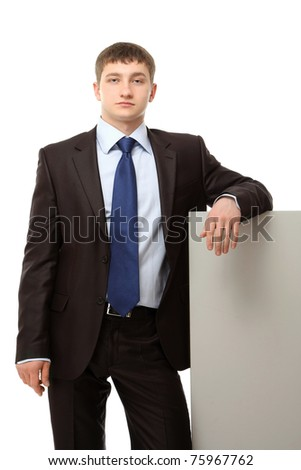 A businessman with a blank