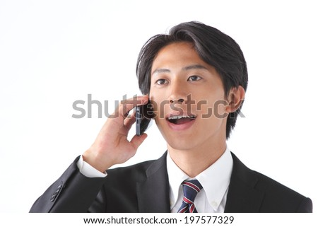 A businessman with a smart phone
