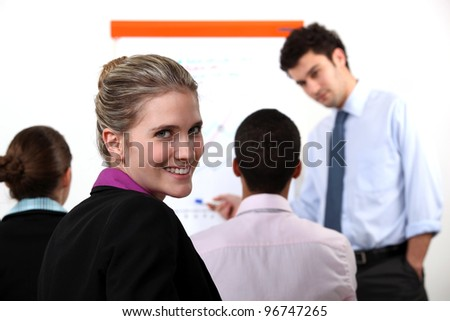 A businesspeople meeting. - stock photo