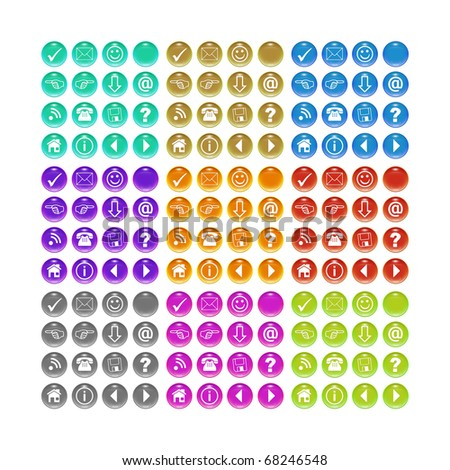 A button set for your website in different colors - stock photo
