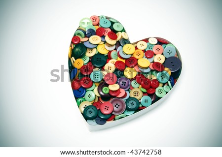 a buttons heart on a white background