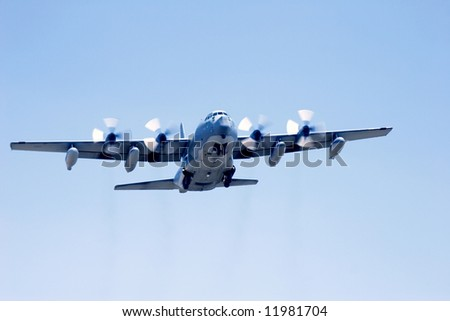 A C-130 Hercules. - stock photo