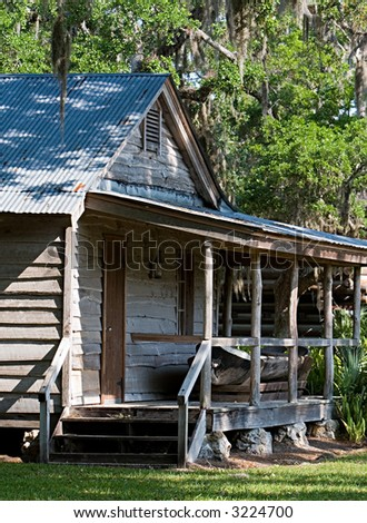 A Cabin By The Swamp In Florida - stock photo