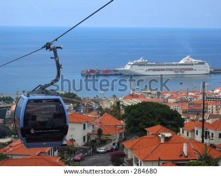A cablecar in Funchal / Madeira (Portugal)... - stock photo