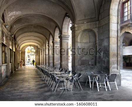 A cafe in Barcelona, Spain - stock photo