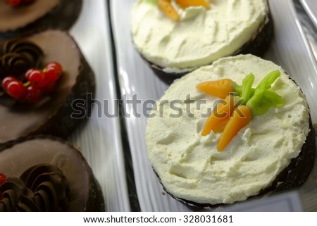 A cake detail in Sweden - stock photo