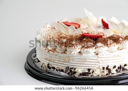 a cake on table - stock photo
