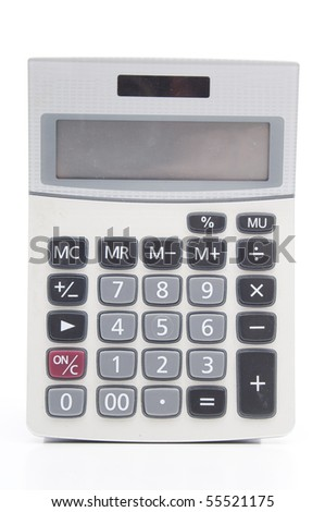 A calculator with an autonomous power supply from the solar battery - stock photo