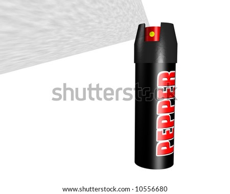 A can of pepper spray for self defense. - stock photo