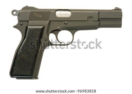 A Canadian-made 9mm semi-automatic military pistol. Approximately 150,000 of these firearms were manufactured by the John Inglis Company in Toronto during World War Two.
