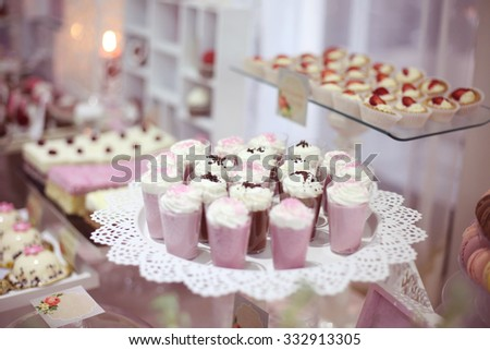A candy buffet with a wide variety of candies - stock photo