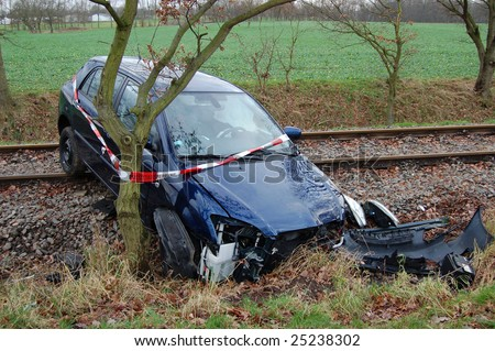 A car crash in Germany - stock photo