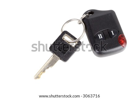 A car key with a remote start