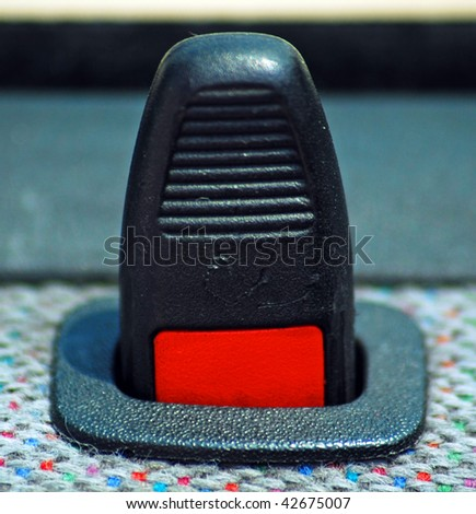 A car lock button - stock photo