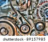A car's motor - stock photo